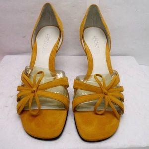 Aerosoles Ladybug Orange Suede Heels Size 8